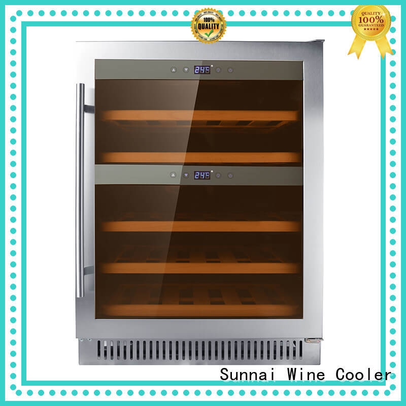 high quality double doors wine cooler panel supplier for shop