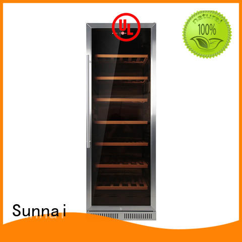 Sunnai double dual zone undercounter wine cooler series for work station