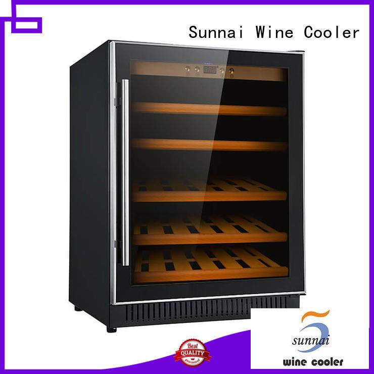 Sunnai single dual zone undercounter wine cooler supplier for shop