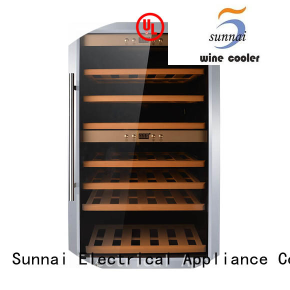 Sunnai single dual zone wine cooler refrigerator for home
