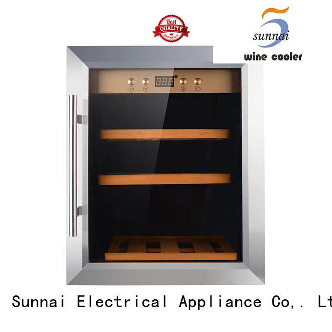 durable dual zone freestanding wine cooler beech manufacturer for work station