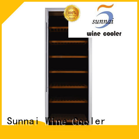 professional dual zone wine fridge black refrigerator for shop