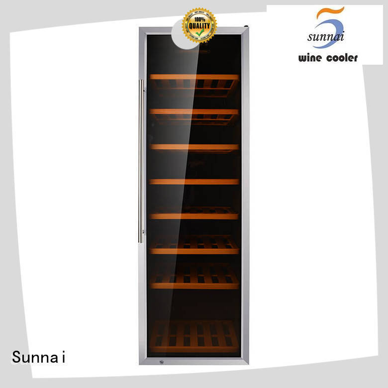 black stainless steel door wine cooler silver manufacturer for work station