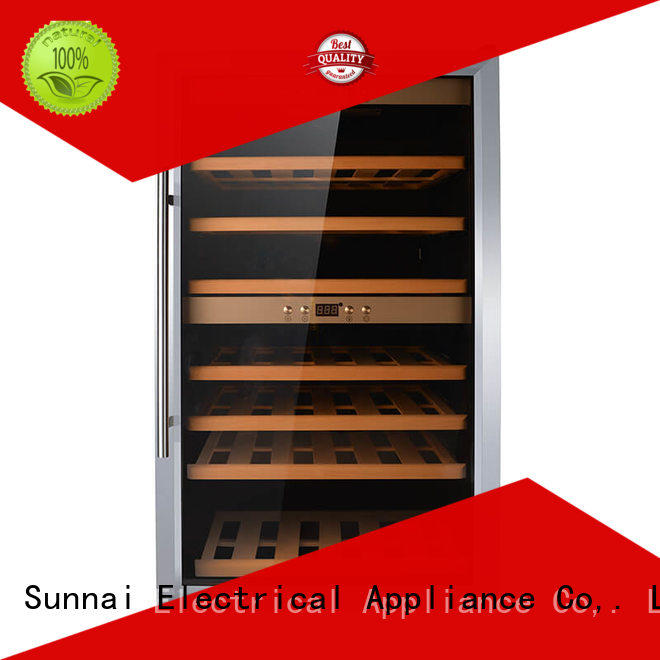 Sunnai double wine bottle fridge manufacturer for home
