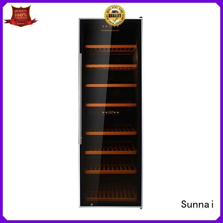 Sunnai size single zone wine refrigerator supplier for shop
