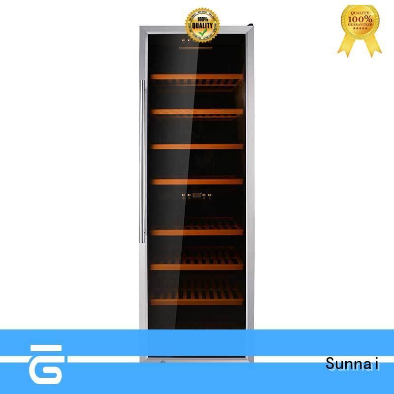 Sunnai black dual zone wine fridge dual work