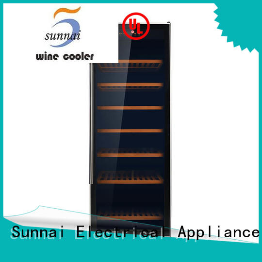 Sunnai stainless single zone wine refrigerator supplier for indoor