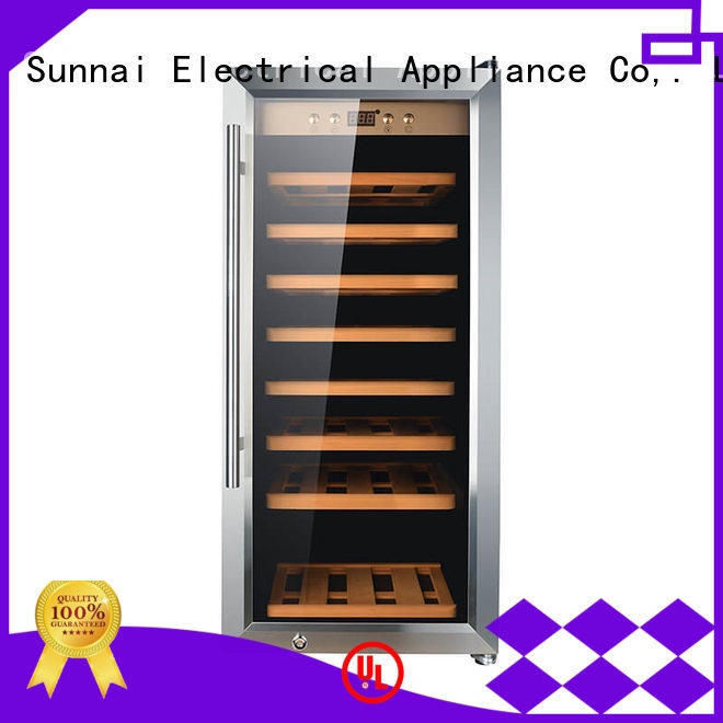 Sunnai single wine cooler refrigerator wholesale for shop