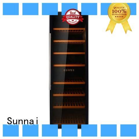 Sunnai wood dual zone wine refrigerator wholesale for indoor
