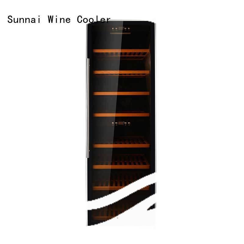 Sunnai door dual zone freestanding wine cooler series for indoor