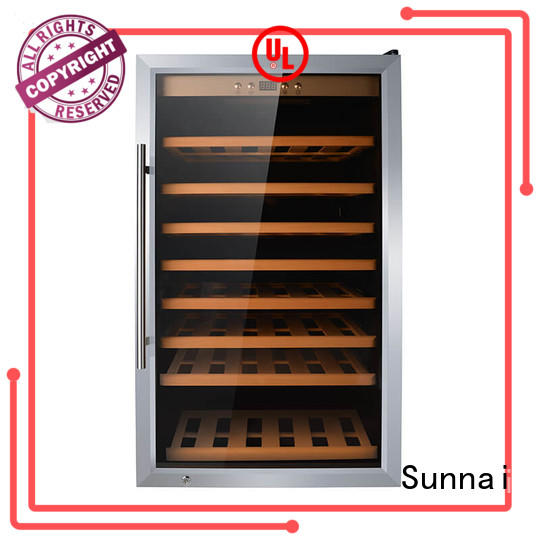 Sunnai stainless wine storage refrigerator series for indoor