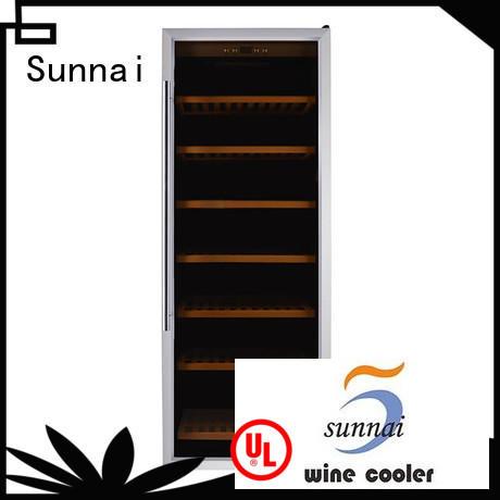 Sunnai panel wine bottle fridge manufacturer for indoor