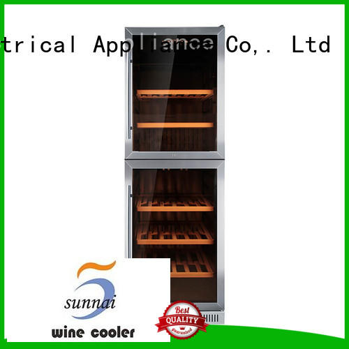 Sunnai silver dual zone undercounter wine cooler compressor for work station