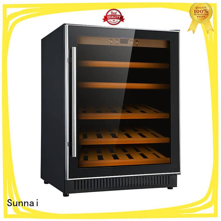 Sunnai single double doors wine cooler supplier for indoor