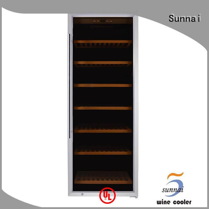 Sunnai black single zone wine cooler product home