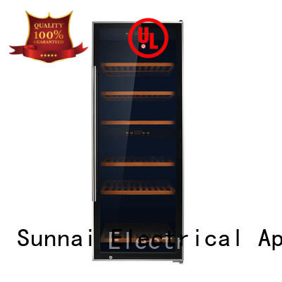 Sunnai size stainless steel door wine cooler wholesale for home