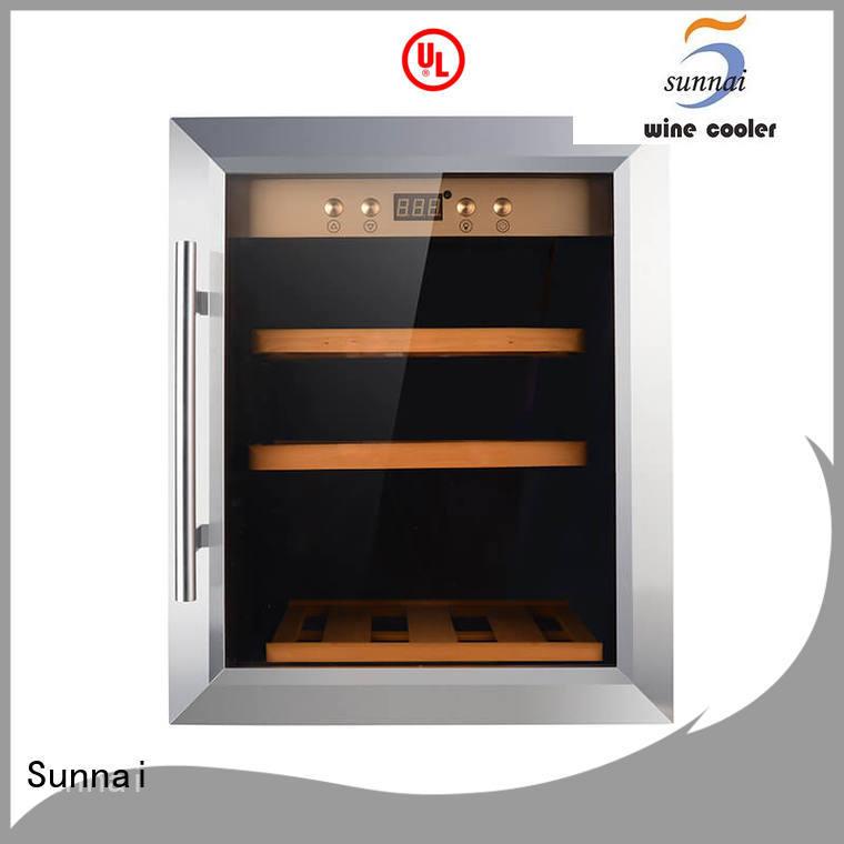 Sunnai black single zone wine refrigerator supplier for home