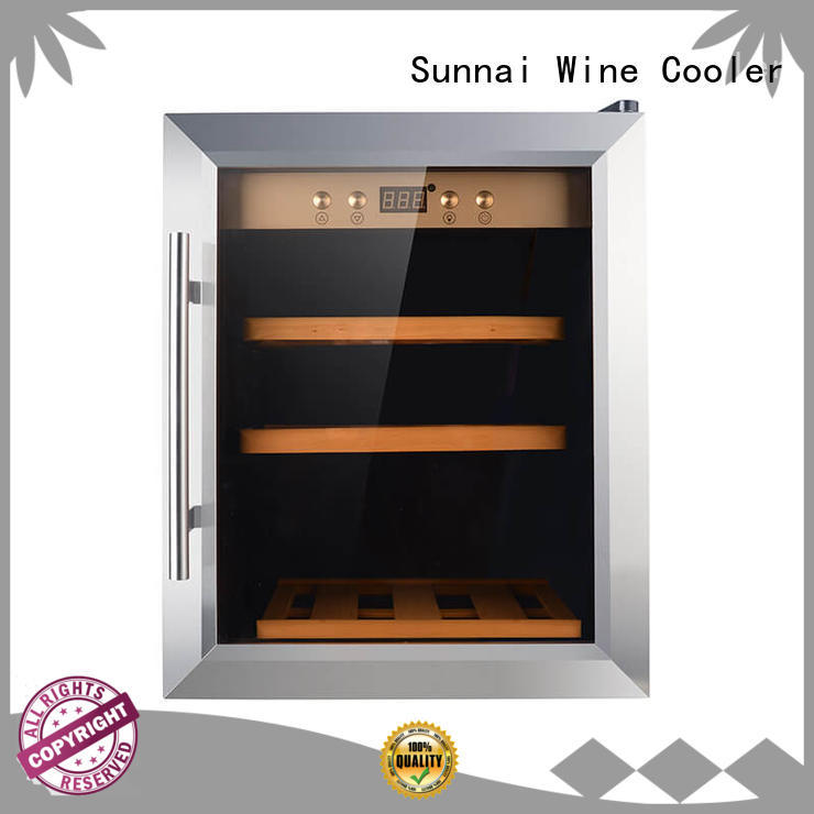 Sunnai silver wine cellar fridge supplier for work station