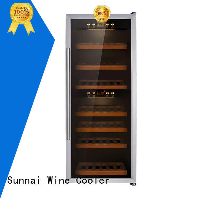 Sunnai safety dual zone wine cooler product for shop
