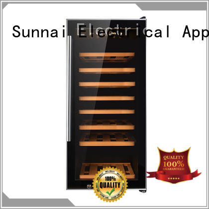 Sunnai size freestanding wine cooler manufacturer for indoor