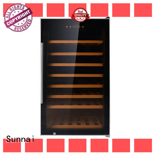 Sunnai black wine cellar cooler product for work station