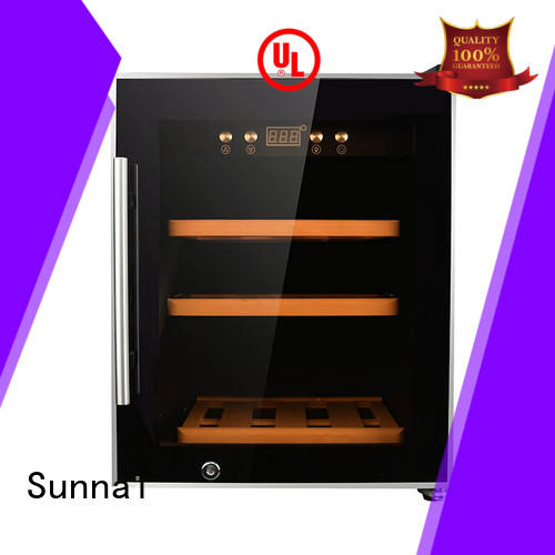 Sunnai wood free standing wine refrigerator wholesale for home