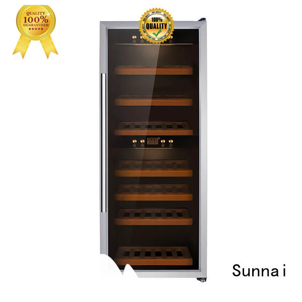 Sunnai wine single zone wine cooler manufacturer for home