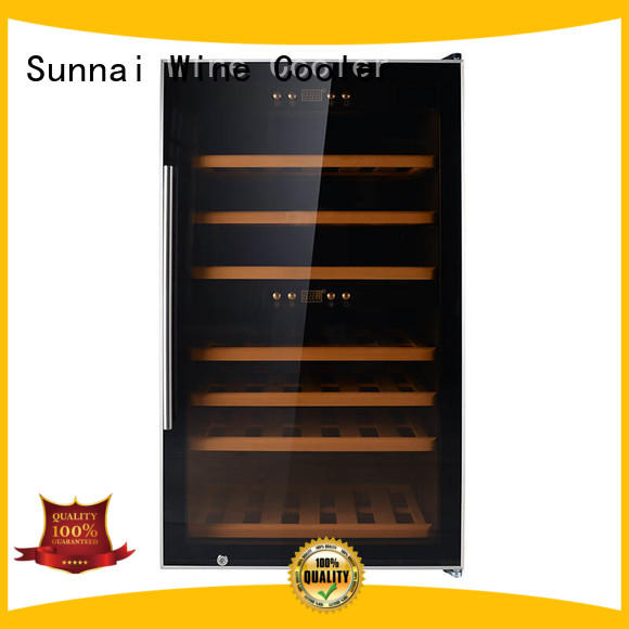 Sunnai black wine storage fridge supplier for home