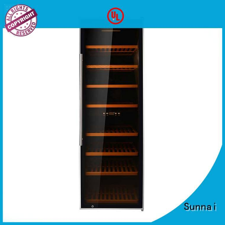 Sunnai dual single zone wine fridge wholesale for indoor
