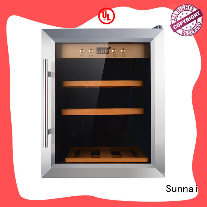Sunnai door free standing wine refrigerator product for shop