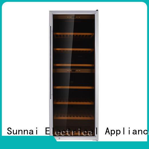 Sunnai online dual zone wine fridge refrigerator for shop