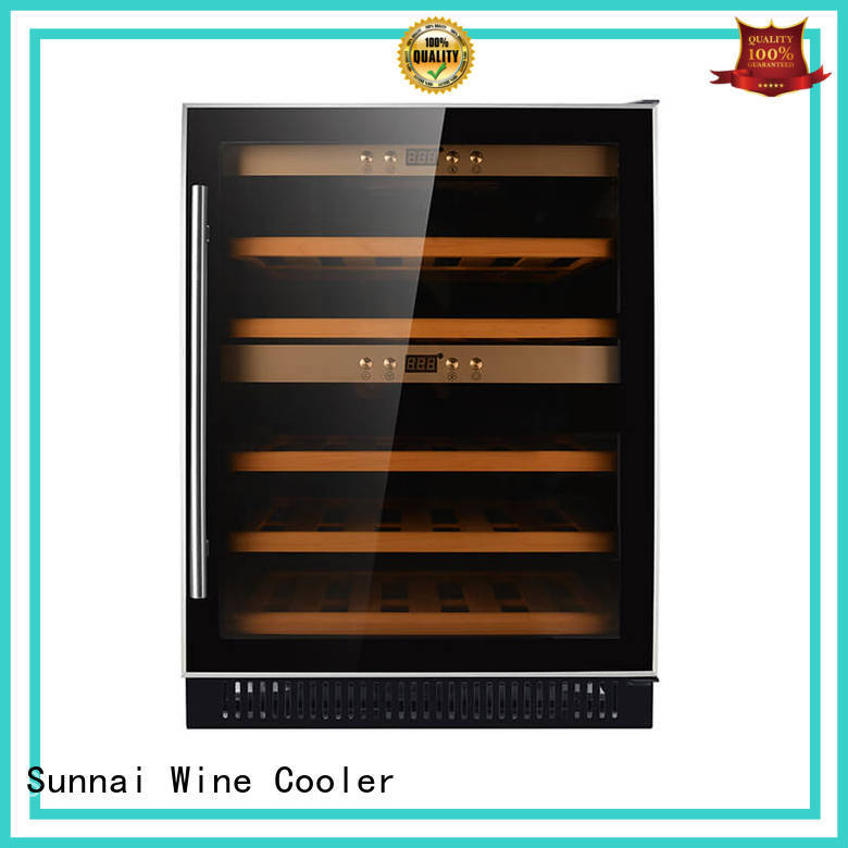 durable double doors wine fridge manufacturer for work station