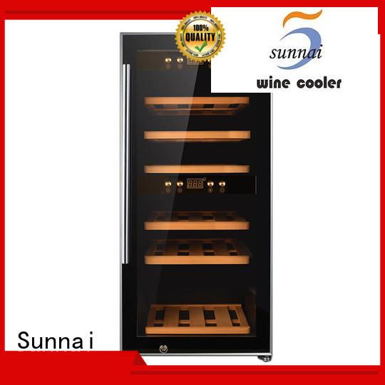 Wholesale cooler wine refrigerator dual zone freestanding refrigerator Sunnai Brand