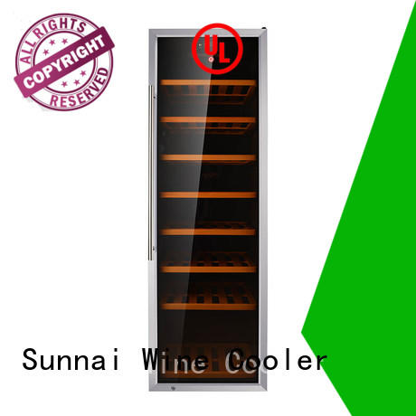 Sunnai beech dual zone wine refrigerator supplier for indoor