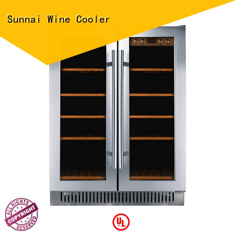 online under counter dual zone wine fridge dual cooler for work station