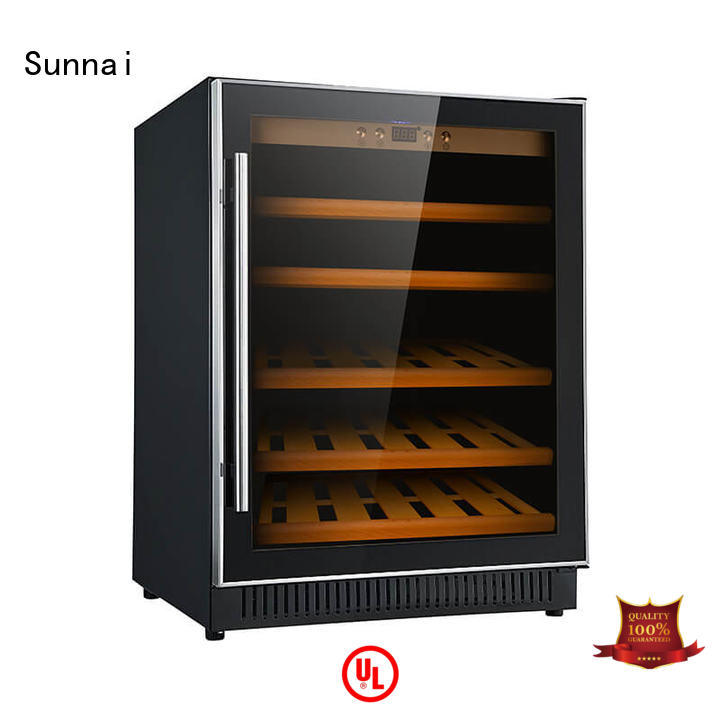 Sunnai professional dual zone undercounter wine cooler compressor for indoor