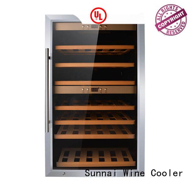 Sunnai black wine bottle fridge product for home