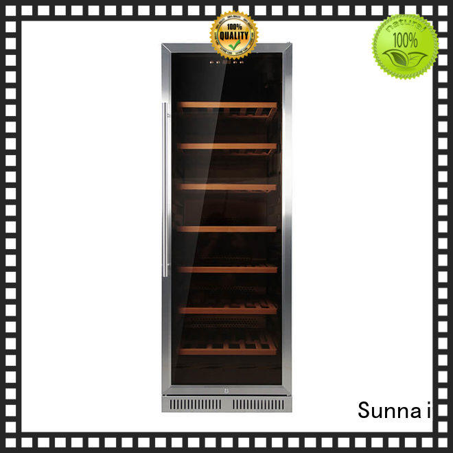Sunnai online double doors wine cooler supplier for work station