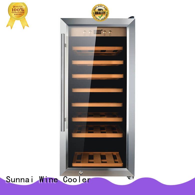 Sunnai black single zone wine fridge supplier for home