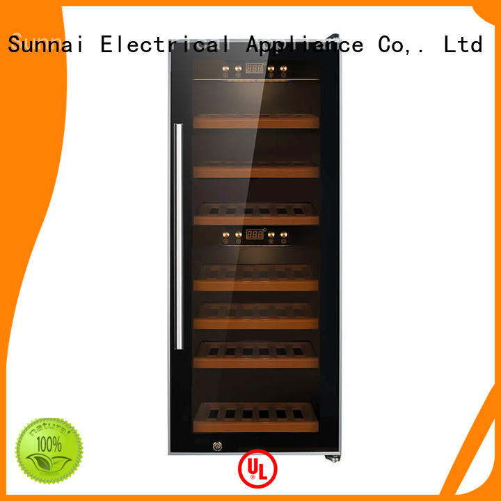 high quality dual zone wine fridge bottles refrigerator for home