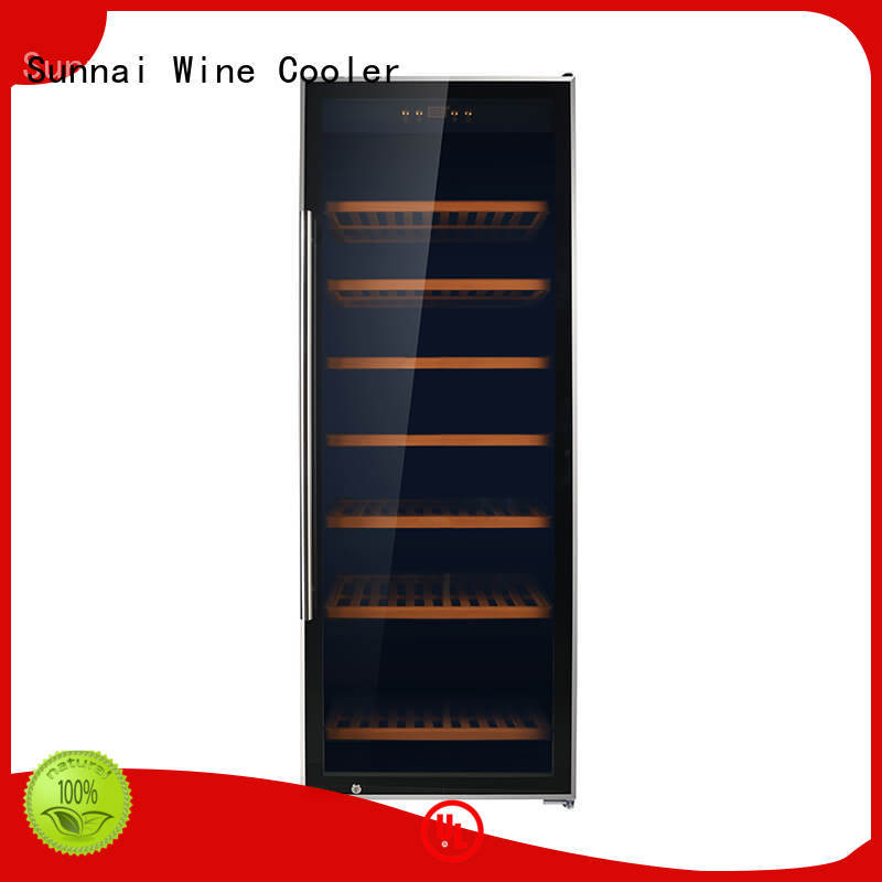 Sunnai chiller stainless steel door wine cooler wholesale for home
