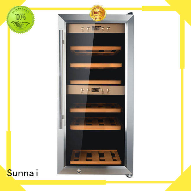 Sunnai black wine storage fridge product for home
