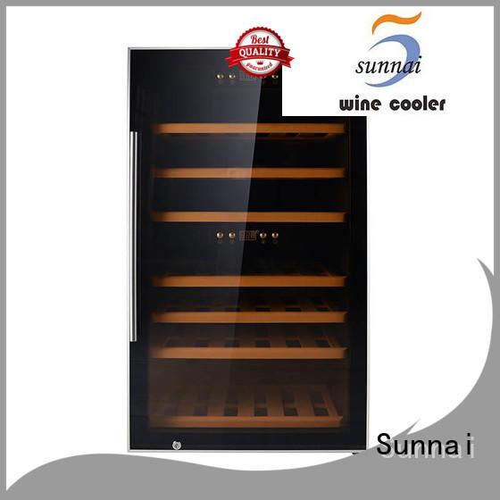 Sunnai chiller freestanding wine fridge supplier for indoor