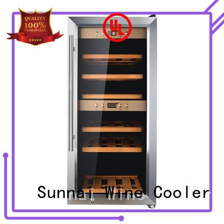 Sunnai compressor mini wine cooler bottles station