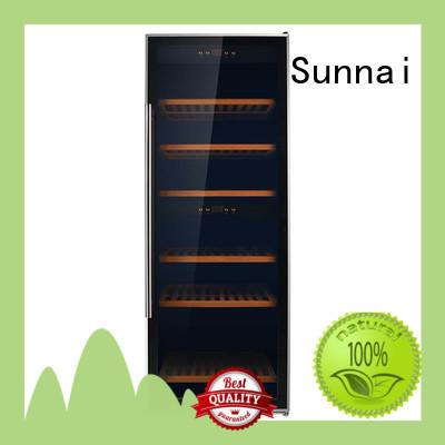 Sunnai black wine cellar fridge manufacturer for work station