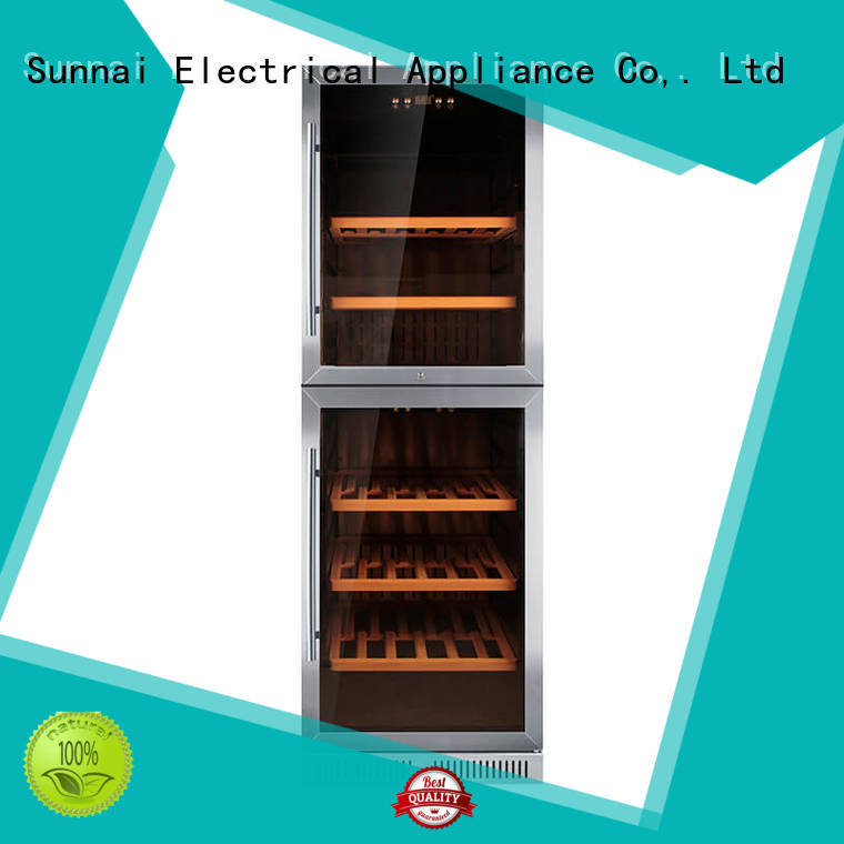 Sunnai silver compressor wine coolers supplier for shop