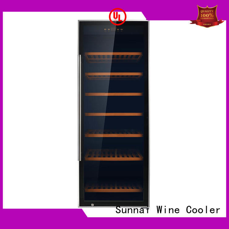 safety dual zone wine fridge compressor product for work station