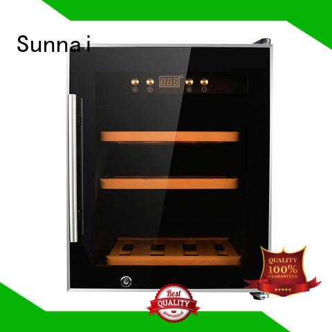 Sunnai smaller dual zone wine refrigerator wholesale for indoor