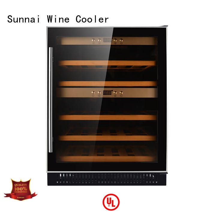 Sunnai durable single zone wine fridge cooler for work station