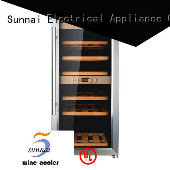 Sunnai durable free standing wine refrigerator wholesale for home